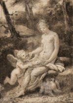 * Prud'hon (Pierre Paul, 1758-1823). Cupid and Psyche
