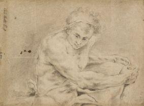 * Maratta, Carlo (1625-1713) A Seated Male Figure recto and a Family Group verso
