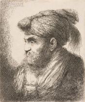 * Castiglione (Giovanni Benedetto, 1609-1664). Man with beard and moustache