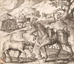 * Gheeraerts (Marcus, I). The Horse and the Ass & the Greedy bird-catcher, 1567