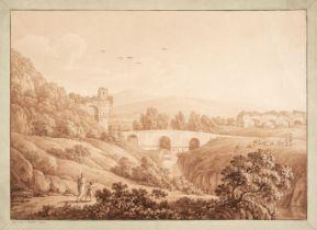 * Nahl (Johann August, 1752-1825). Acquedotti di Claudio a Tivoli