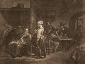* Stolker (Jan, 1724-1785). Backgammon Players in an inn