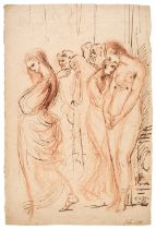* Romney (George, 1734-1802). A group of oppressed male and female figures, and one other