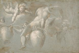 * Pupini (Biagio, circa 1496-circa 1575). Nymph pouring water from an urn, circa 1530-40