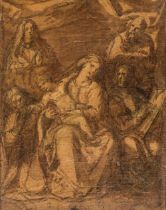 * Carducho (Vicente, 1576-1638). Holy Family with Saints, circa 1630-1638,