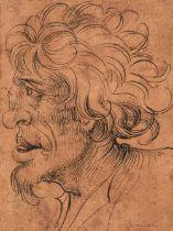 * German School. Head of a Wild Man, first half 16th century