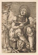 * Beham, Hans Sebald, St Anthony the Hermit, engraving, 1521