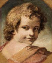 * Reynolds, Sir Joshua (1723-1792), Head of an Angel, or Child, after Correggio, oil on canvas