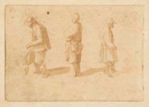 * Breughel (Jan, 1568-1625). Three Peasants, probably late 16th or early 17th century