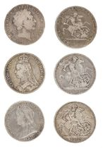 * Coins. George III and later silver crowns and other coins