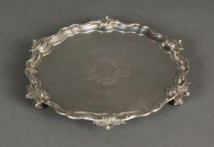 * Salver. George II silver salver by George Wickes, London 1753