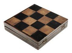 * Chess. A 19th-century folding chessboard