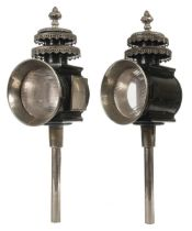 * Coaching Lamps. A large pair of Victorian coaching lamps