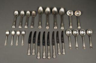 * Flatware. Silver King's Pattern cutlery
