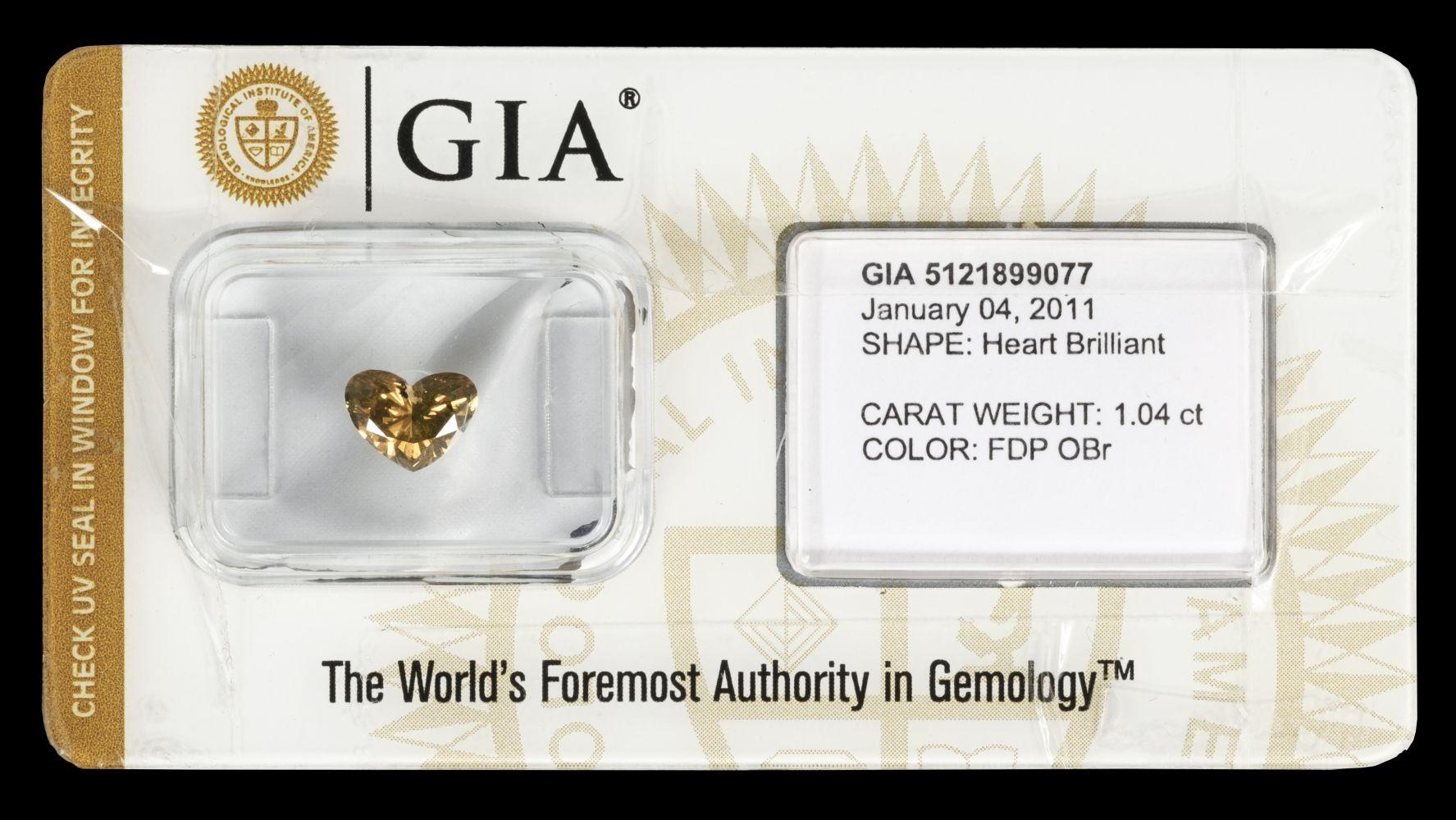 * Diamond. Heart brilliant cut diamond - GIA certified