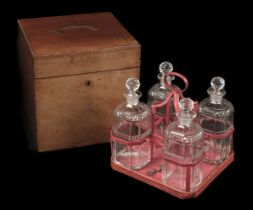 * Decanters. A set of 4 George III period decanters, boxed