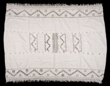 * Lace. A cutwork linen coverlet, probably Italian, late 16th/early 17th century