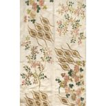 * Chinese embroidery. A large piece of embroidered silk, early 19th century