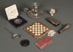 * Boulton (Matthew, 1728-1809). A silver-plated chamberstick and other items