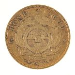 * Gold Coin. South Africa 1/2 Pond 1896