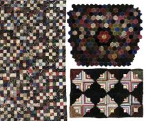 * Quilts. A large piece of patchwork, 1880s, and others