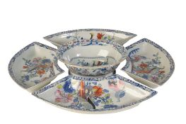 FIVE PIECES OF MASONS 'IRONSTONE' DINNER WARES, 19TH CENTURY
