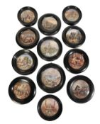A COLLECTION OF VICTORIAN POT LIDS
