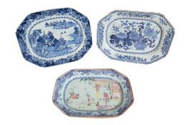 A CHINESE EXPORT PORCELAIN MEAT DISH,