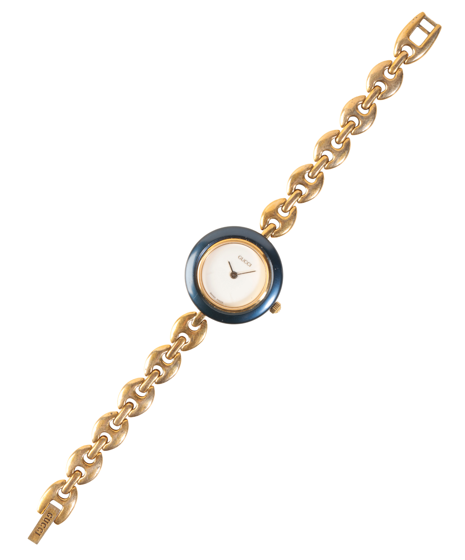 GUCCI LADY'S GOLD PLATED BRACELET WATCH