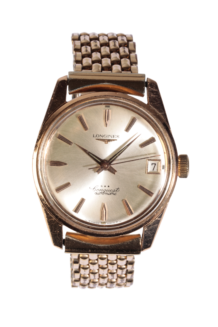 LONGINES CONQUEST GENTLEMAN'S GOLD PLATED WRIST WATCH