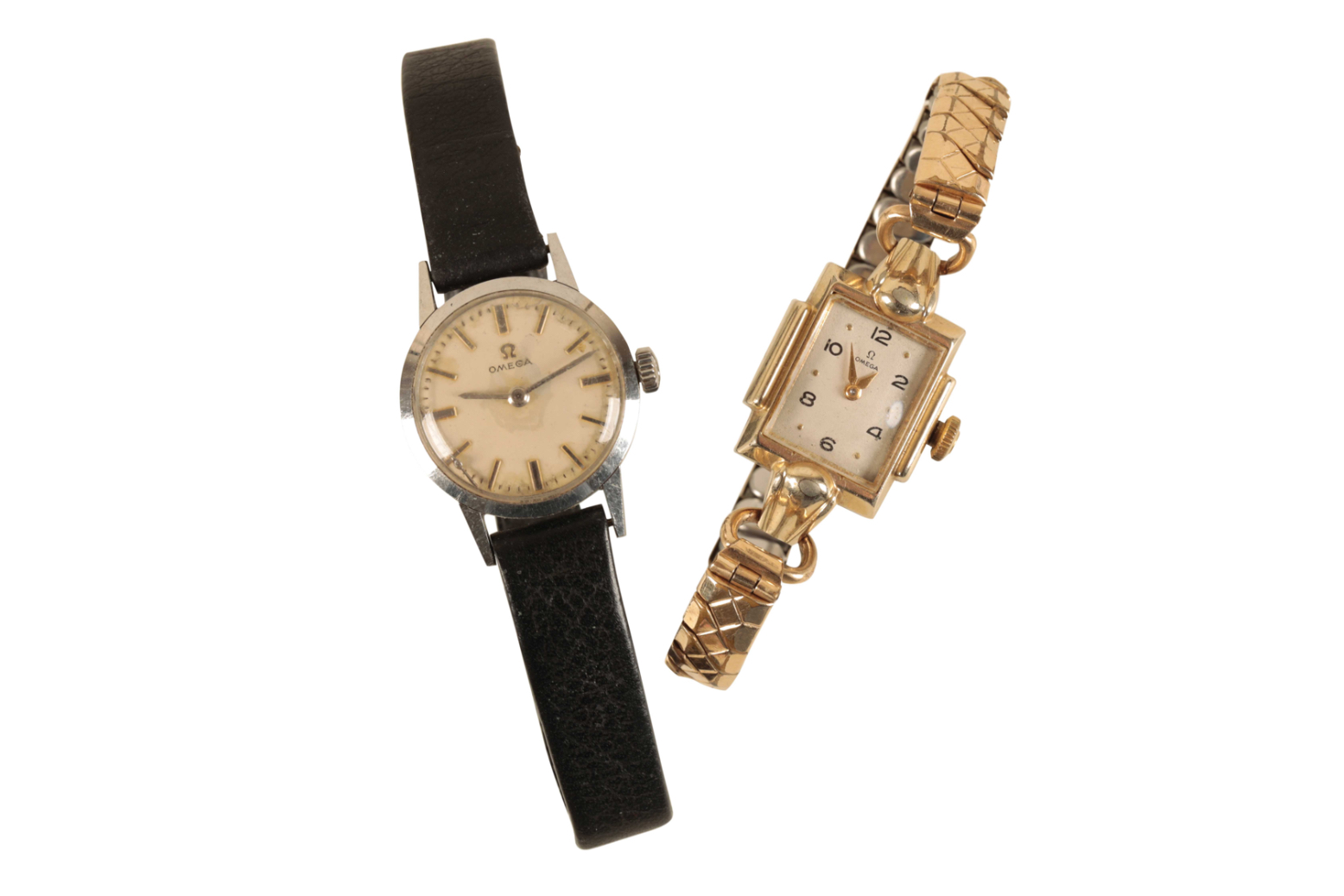 OMEGA LADY'S STAINLESS STEEL WRIST WATCH