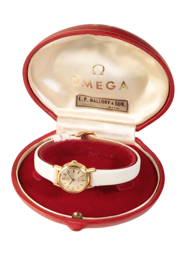 OMEGA LADY'S GOLD PLATED WRIST WATCH