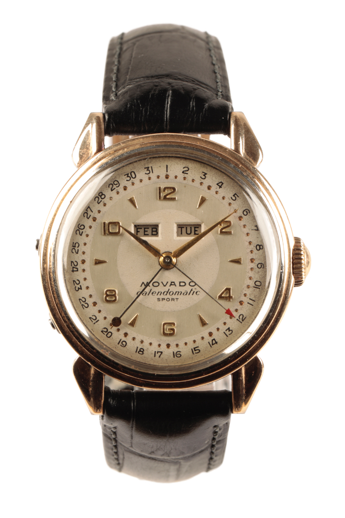 MOVADO CALENDOMATIC SPORT GENTLEMAN'S STAINLESS STEEL & GOLD PLATED WRIST WATCH
