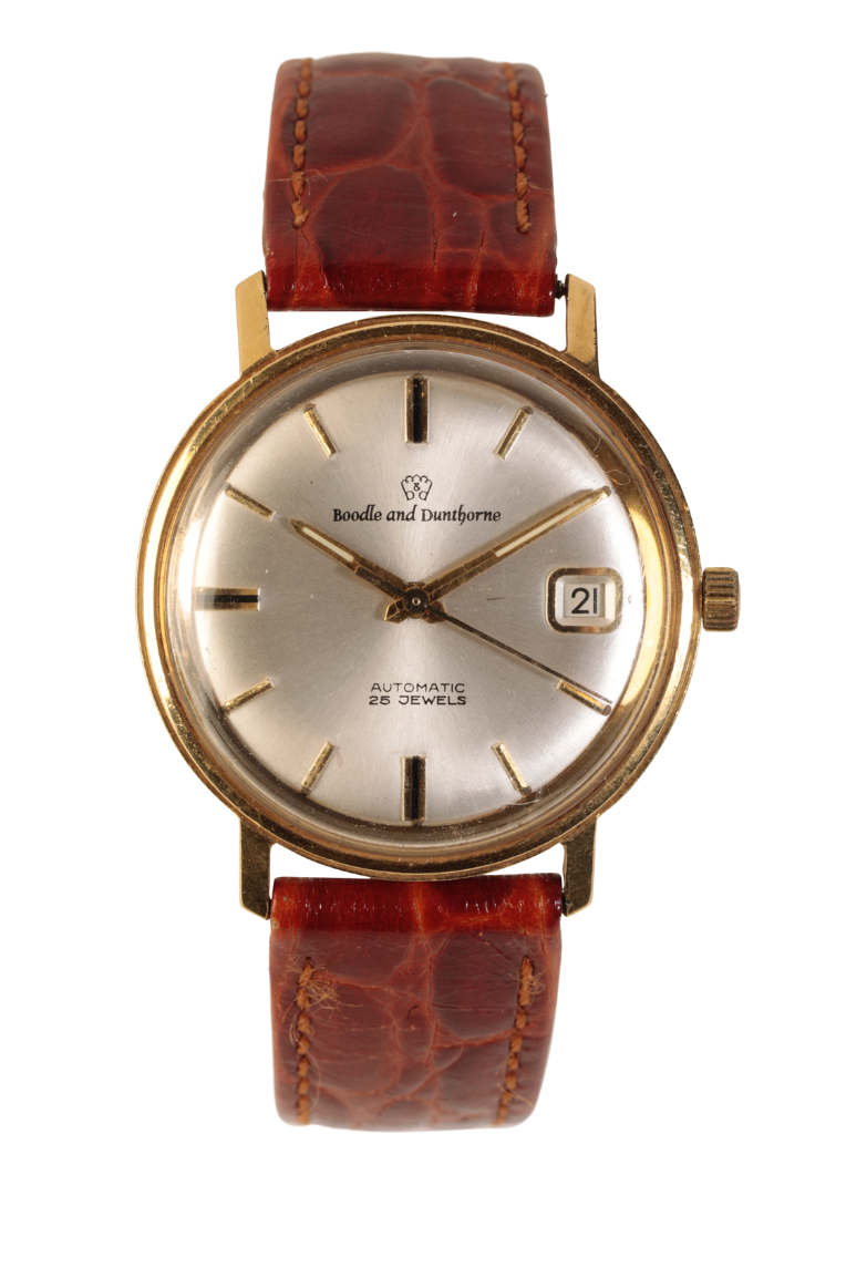BOODLE AND DUNTHORNE 18CT GOLD GENTLEMAN'S WRIST WATCH