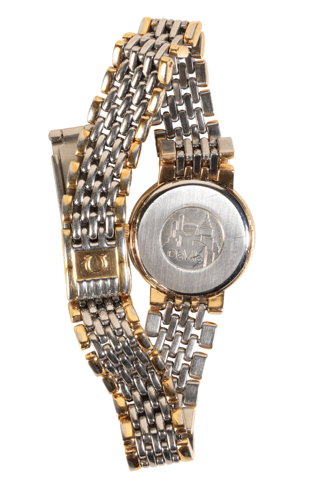 OMEGA DEVILLE LADIES GOLD PLATED AND STAINLESS STEEL BRACELET WATCH - Image 3 of 3