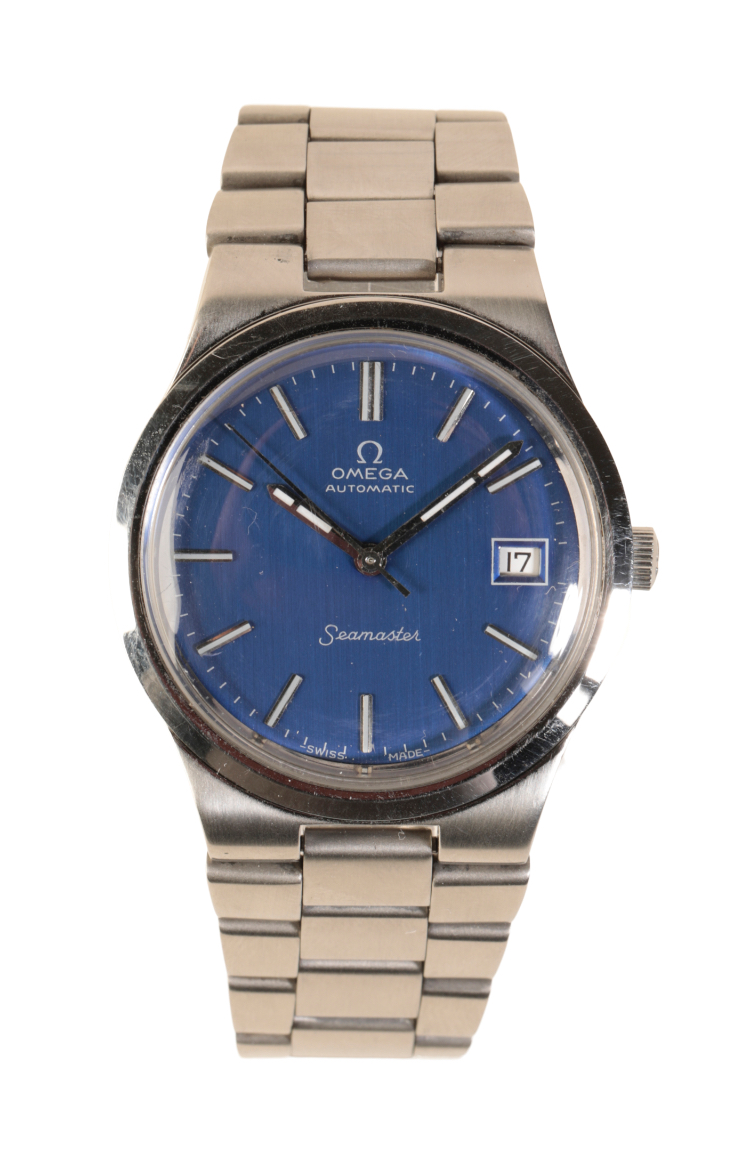 OMEGA SEAMASTER GENTLEMAN'S STAINLESS STEEL BRACELET WATCH,