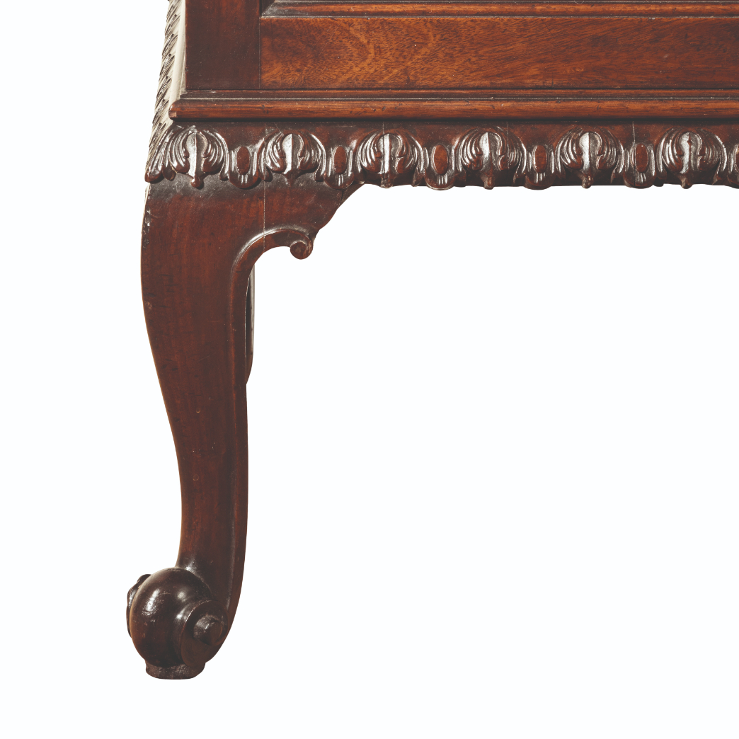A GEORGE II MAHOGANY LIBRARY CABINET - Image 4 of 5