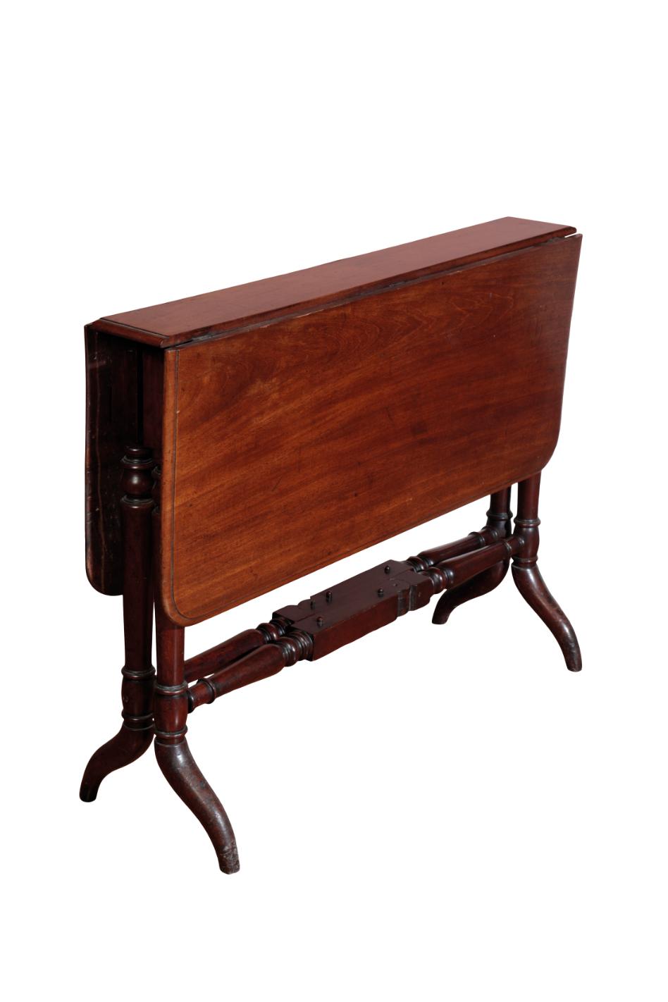 A MAHOGANY SUTHERLAND TABLE,