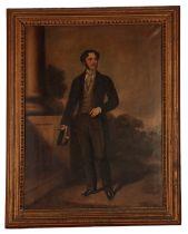 ENGLISH SCHOOL, CIRCA 1850 A portrait of a gentleman standing full-length