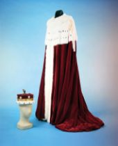 THE CORONATION ROBES OF GENERAL HASTINGS LIONEL 'PUG' ISMAY, 1ST BARON ISMAY, KG, GCB, CH, DSO...