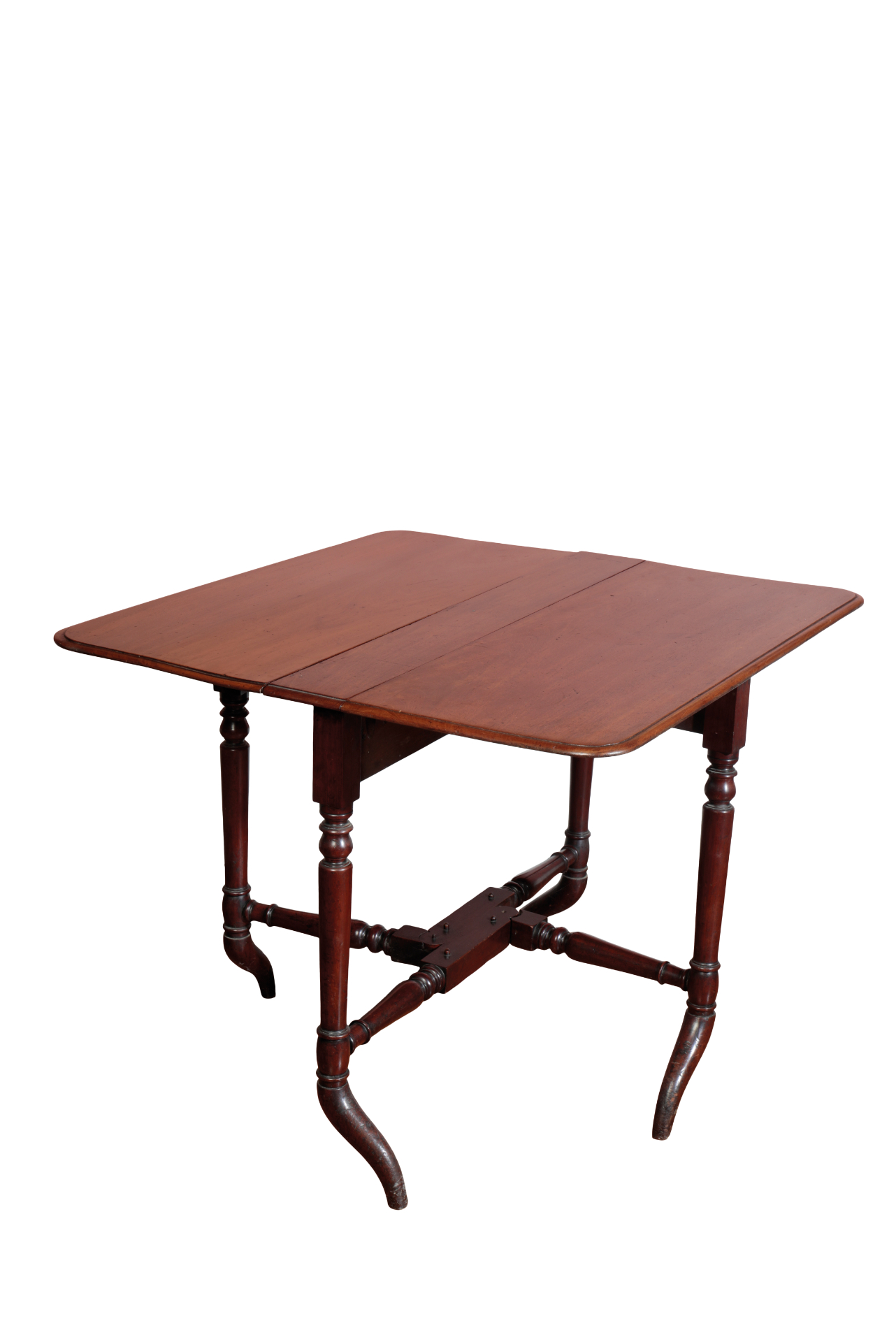 A MAHOGANY SUTHERLAND TABLE, - Image 3 of 3