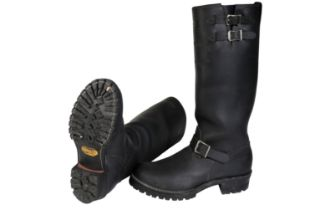 A PAIR OF WESCO MOTORCYCLE BOOTS