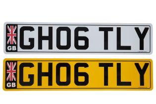 UK VEHICLE REGISTRATION NUMBER 'GH06 TLY'