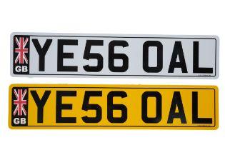 UK VEHICLE REGISTRATION NUMBER 'YE56 0AL'