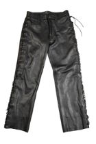 A PAIR OF JT'S LEATHER LACED JEANS