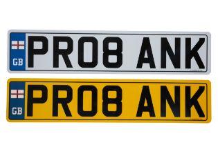 UK VEHICLE REGISTRATION NUMBER 'PR08 ANK'