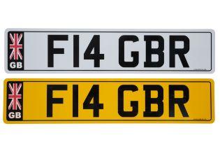 UK VEHICLE REGISTRATION NUMBER 'F14 GBR'