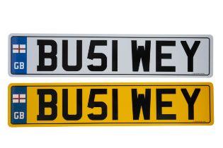 UK VEHICLE REGISTRATION NUMBER 'BU51 WEY'