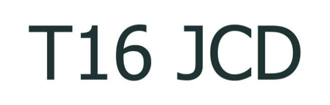 UK VEHICLE REGISTRATION NUMBER 'T16 JCD'
