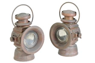 A PAIR OF LUCAS NO 524 'KING OF THE ROAD' LAMPS